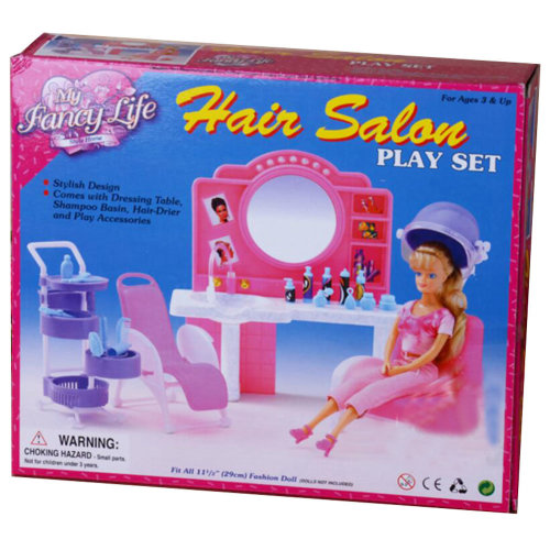 Luxurious 11.5'' Doll Living Room Furniture Set- Hair Salan