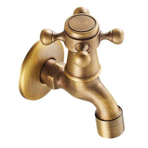 [Spigot] Brass Antique Faucet Mop Pool Faucet Wall Faucet Kitchen/Garden