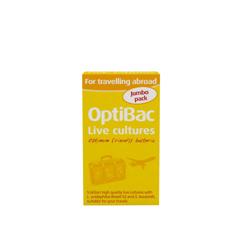 OptiBac For Travelling Abroad - 5 Billion CFU Multi-Strain Formula - 60 Capsules