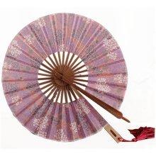 Creative Windmill Round Folding Fan Summer Folding Fan