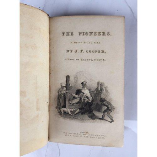 "*RARE* 1836 ""THE PIONEERS"" JAMES FENIMORE COOPER FICTION HARDBACK BOOK"