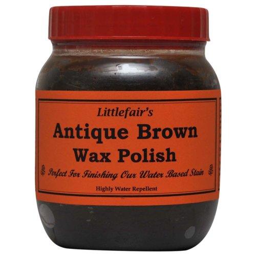 Littlefair's Wax Polish (500ml, Antique Brown)