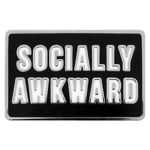 Grindstore Socially Awkward Enamel Pin Badge