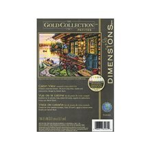 Dimensions Cabin View Gold Collection Counted Cross Stitch Kit, Multi-colour - -  dimensions counted cross stitch kit cabin view d7065161