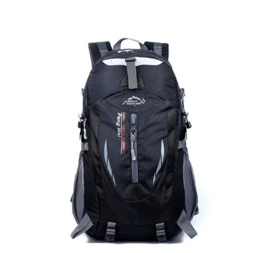 (Black) 35L Waterproof Nylon Outdoor Hiking Backpacks Travel Sport School Mountain Bags