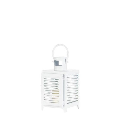 Gallery of Lighting 10018091 Horizon Candle Lantern, White - Small
