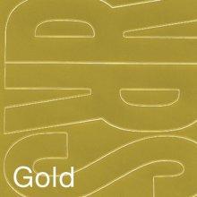 """Permanent Adhesive Vinyl Letters 4"""" 95/Pkg-Gold"""