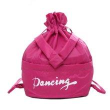 Fresh Color Dance Bags Latin Ballet Backpack Sport Bag, Rose Red