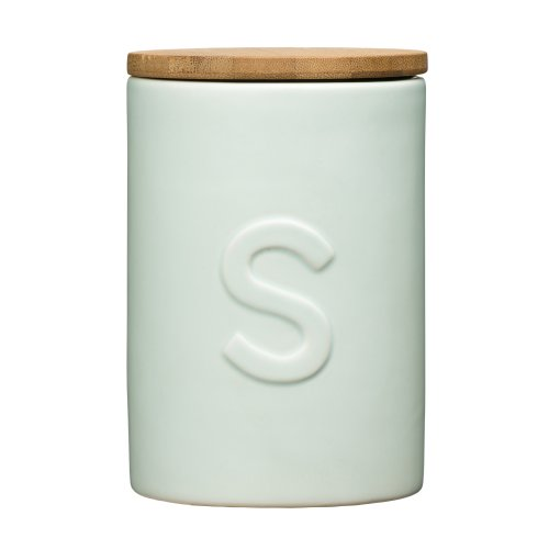 Fenwick Sugar Canister Pale Blue Dolomite, Bamboo Lid