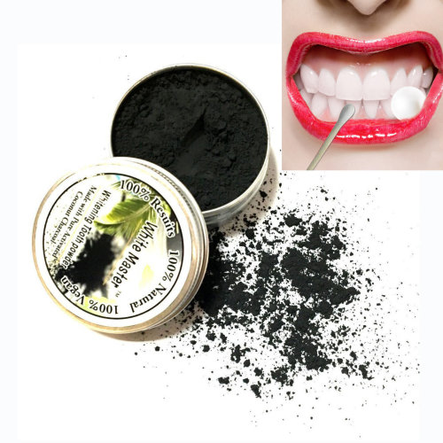 100% Natural Black Bamboo Charcoal Teeth Whitening Powder Tooth Stains Removal Dental Care