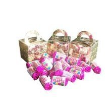 9 Boxes of Mini Love Hearts Filled Holographic Hearts Gold Cube Balloon Weight Favour Boxes