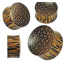 Natural Organic Palm Wood Convex Concave Unique Solid Ear Tunnel Saddle Plug Piercing Finest Quality Materials