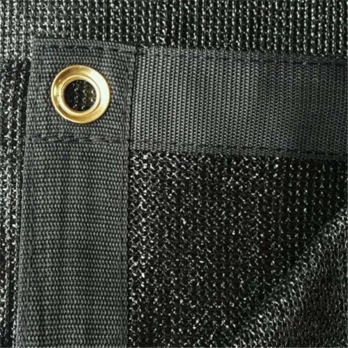 12 x 12 ft. 90 Percent Premium Fabric Sail Sun Shade Cloth - Black