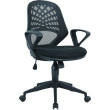 Eliza Tinsley Furniture Lattice Mesh Back Operator Armchair - Black