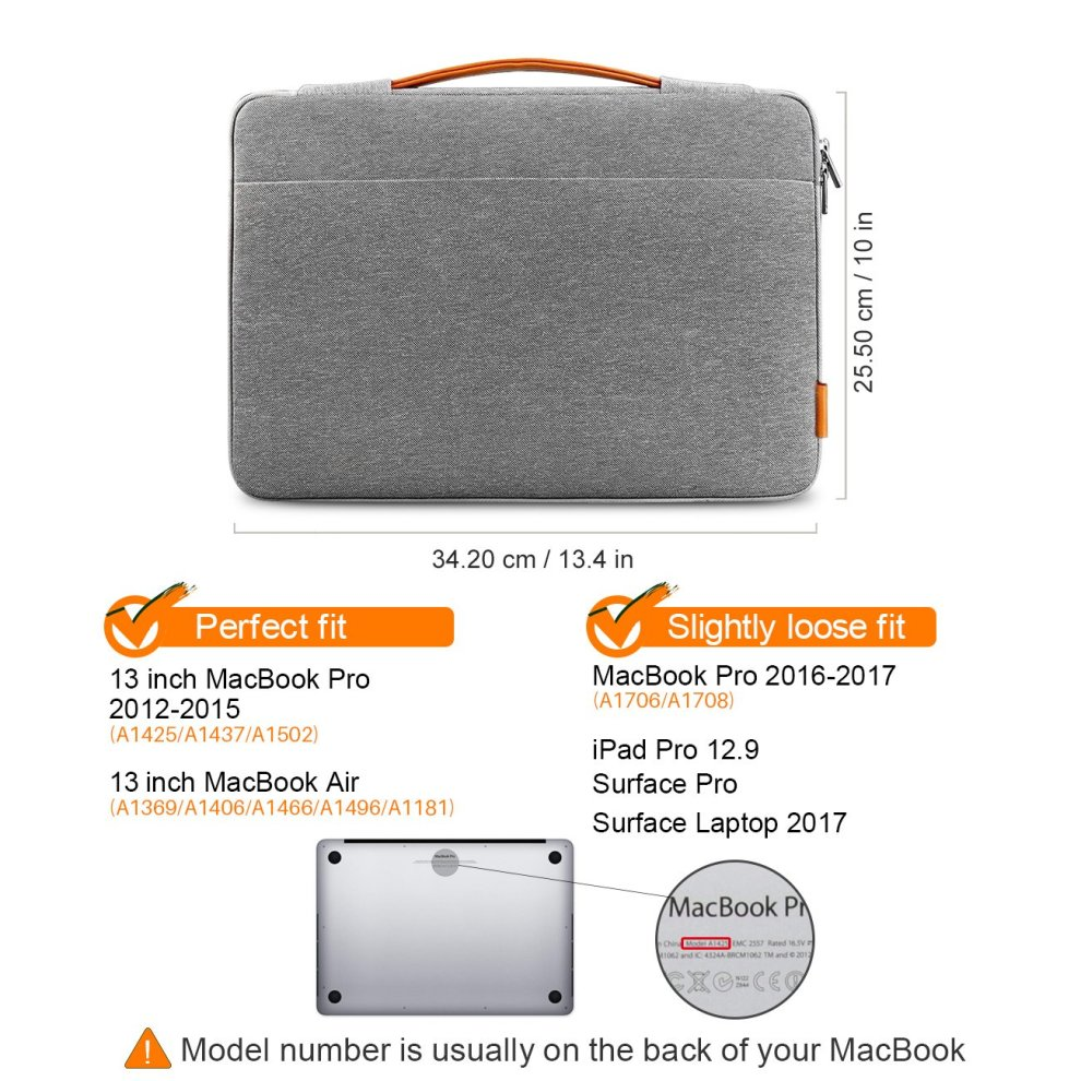 dbfdf0065a96 Inateck 13-13.3 Inch Laptop Sleeve Case Cover Briefcases Compatible Macbook  Air/Macbook Pro Retina, 13'' MacBook Pro 2018/2017/2016, 12.3 Surface...