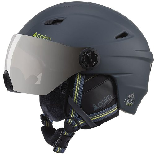 Cairn Electron Visor Matt Shadow Unisex Adult Ski Snow Sports Helmet 55/56cm