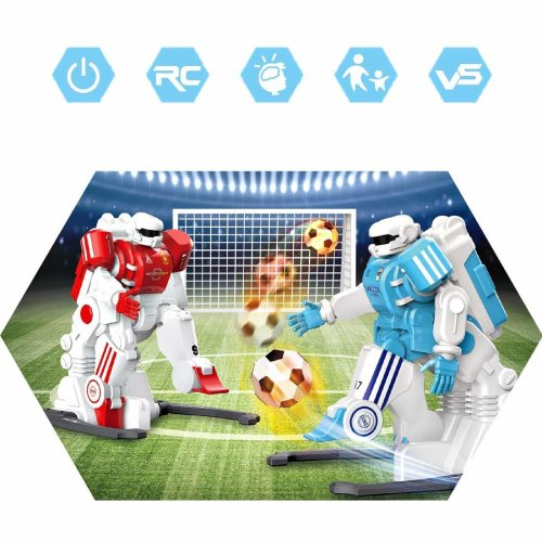 deAO 2.4GHz Kids Interactive Remote Control Robot Football Player Set with Goal Posts, Soccer Balls and Accessories Included