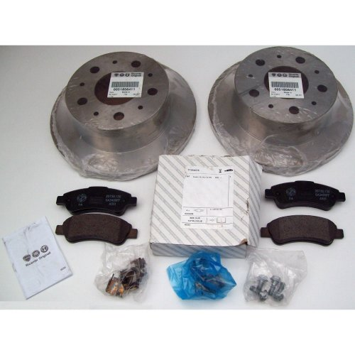 Fiat Ducato Genuine Rear Brake Disc x 2 & Pads Kit 71772608 51856411 Ga3409