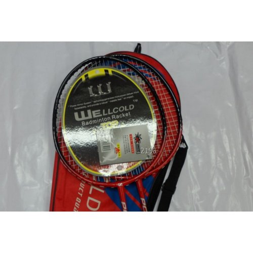 Cheap Badminton Rackets Recreational Rackets with Case Badminton Set RED
