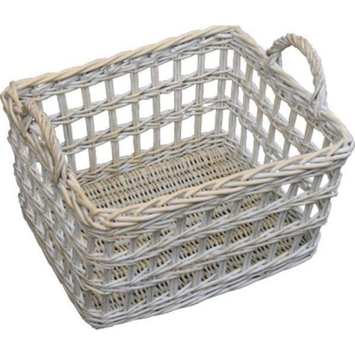 Provence Open Weave Wicker Utility Basket