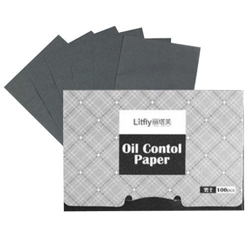 2 Pcs Men's Oil Control Paper Oil Blotting Paper Absorbing Tissues