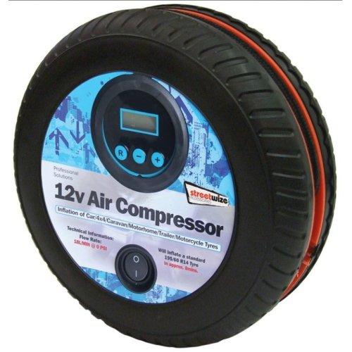 Streetwize SWAC15 Digital Air Compressor 12V 250 PSI Tyre Shape Bar Pressure