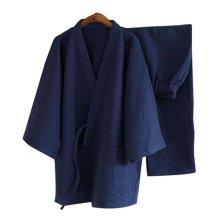 Breathable Cotton Pajamas Suit Men's Kimono Pajamas Autumn&winter Bathrobe