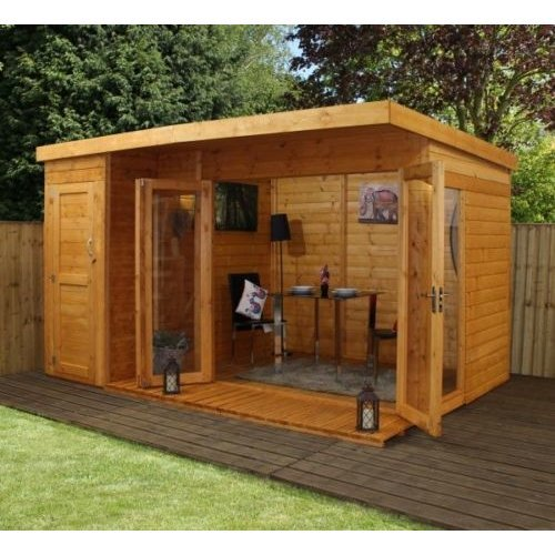 12x8 - Garden room with side shed