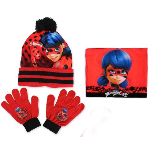 Miraculous Ladybug Hat, Snood and Gloves