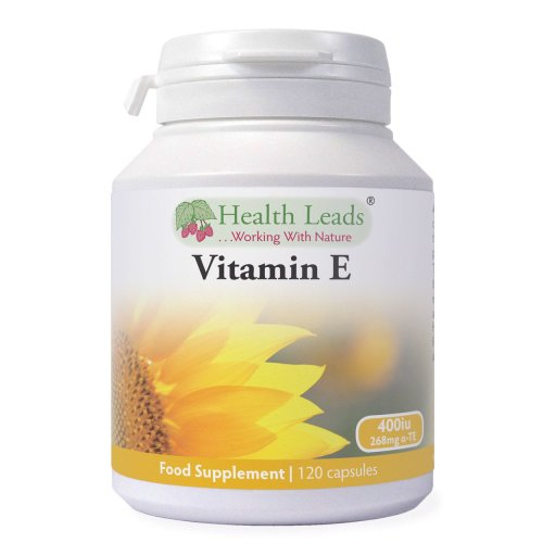 Natural Vitamin E 400iu x 90 capsules (100% Natural D-Alpha Tocopherol)