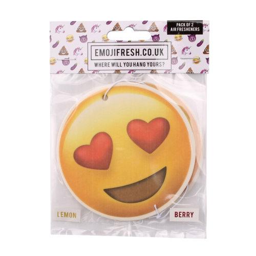 Emojifresh Heart Eyes Air Fresheners (Pack Of 2)