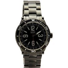 GUESS Black Ion Stainless Steel Mens Watch U0043G2