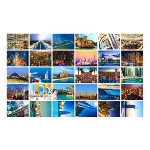 30 PCS Exquisite World Scenery Photo Postcards Creative Arts Greeting Cards,A9