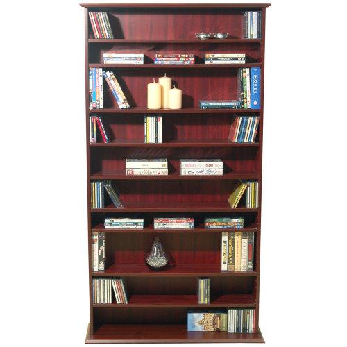 HARROGATE - 760 CD / 318 DVD / Blu-ray Media Storage Shelves - Mahogany