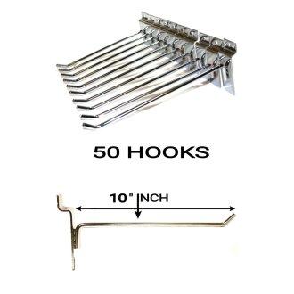 50X SLATWALL 10'' SLAT BOARD HOOKS ACCESSORY SHOP RETAIL STORE DISPLAY