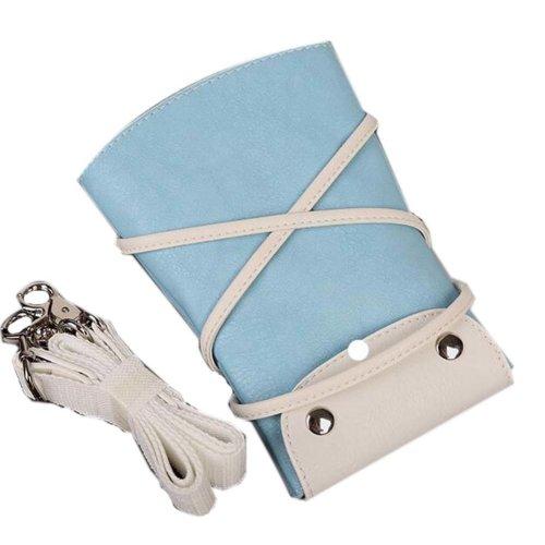 Hair Scissors Bag Hair Beauty Tools Package Hair Stylist Pockets, Light Blue