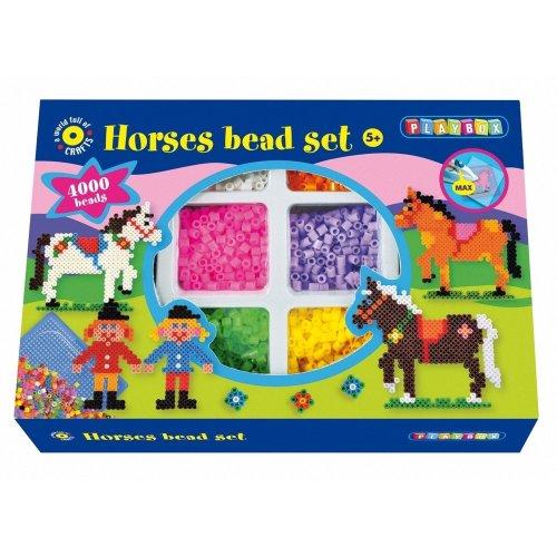 Pbx2470903 - Playbox - Bead Set (horse & Rider) - 4000 Pcs