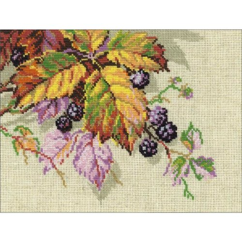 """14 Count RIOLIS Counted Cross Stitch Kit 7.75/""""X7.75/""""-Forget Me Nots"""
