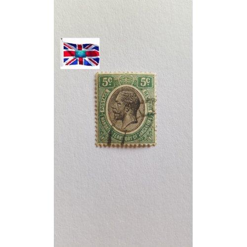 "Tanganyika 1927 "" King George V Issues (1927-31) Issues of Tanganyika"" 5 East African cent"