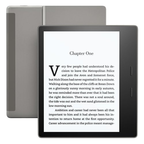"""Kindle Oasis E-reader - Graphite, Waterproof, 7"""" High-Resolution Display (300 ppi), Built-In Audible, 32 GB, Free 3G + Wi-Fi"""