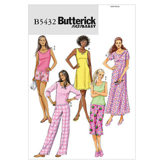 Misses'/Misses' Petite Top, Gown, Shorts and Pants-Y (XSM-SML-MED) -*SEWING PATTERN*