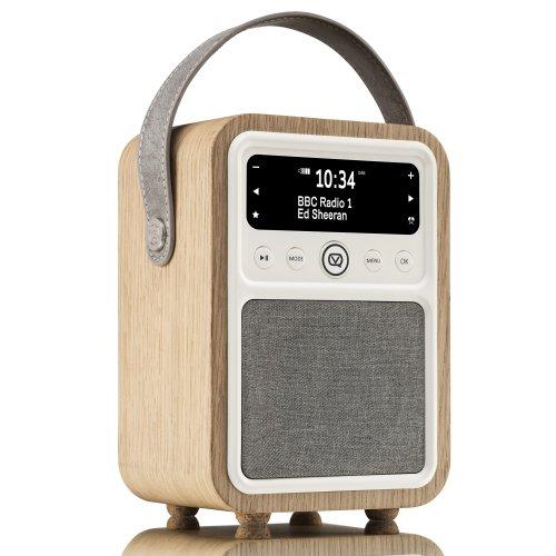 VQ Monty DAB & DAB+ Digital Radio with FM, Bluetooth & Alarm Clock – Real Wood Case Oak