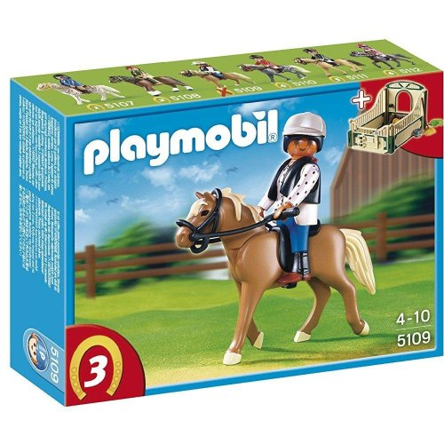 PLAYMOBIL Haflinger Horse with Rider and Stable