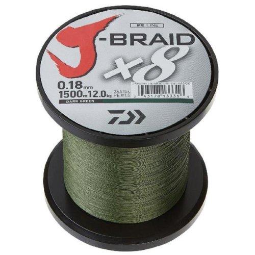 Daiwa 1110085 3000 yards J-Braid X4 Spool - Dark Green, 15 lbs