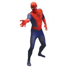 Marvel Comics Spider-Man Adult Unisex Basic Cosplay Costume Morphsuit - X Large - Multi-Colour (MLSPMVX-XL)