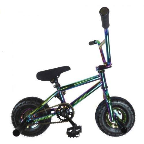 New Limited Edition 1080 Kids Stunt Freestyle Mini BMX Bike Chrome Black White