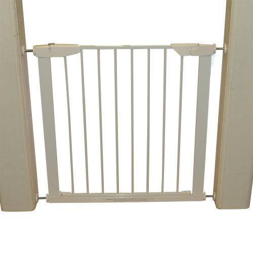 Pawhut Retractable Pet Safety Gate, 65-72x74 cm-White