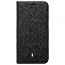 Montblanc Meisterstück iPhone X Case | Black Soft Grain Leather Flip Case