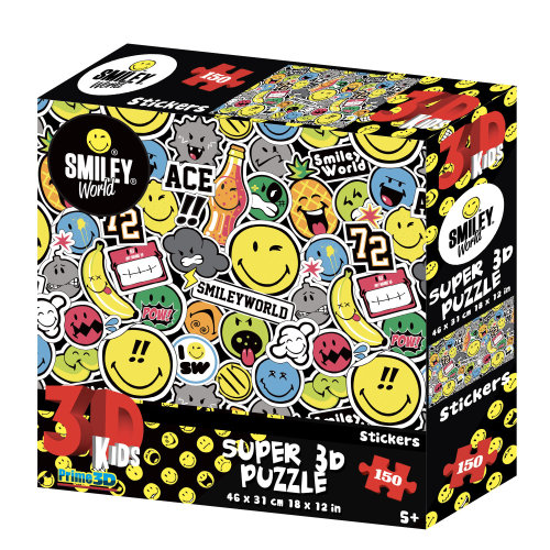 Stickers Smiley World 150pc Super 3D Effect Puzzle