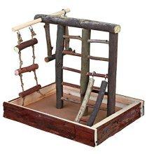 Trixie 5660 Natural Living Playground 28 × 25 × 22cm - Budgie Bird Ladder 22cm -  natural playground trixie 5660 living budgie bird ladder 28 25 22